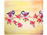 Birds and Berries - Canvas - Paint and Sip