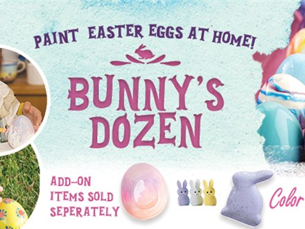 Bunny's Dozen Take Home Painting Kit!