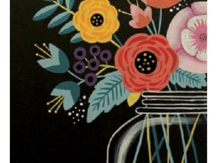 "Canvas Night ""Modern Bouquet"""