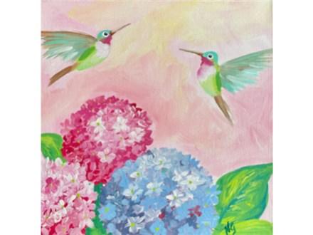 Hummingbirds Paint Class - WR