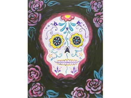 Canvas Painting - Sugar Skull - 11.01.18 - Evening Session