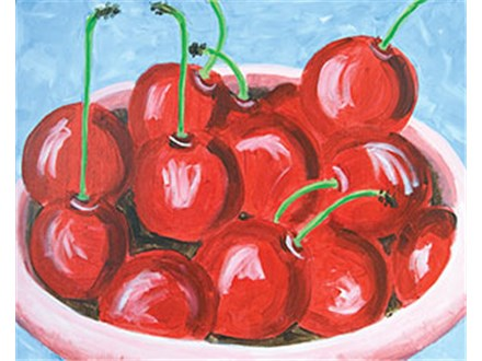 "Sunday Funday Canvas ""Bowl of Cherries"""