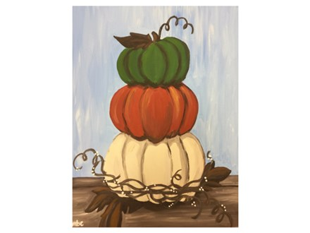 Stacked Pumpkin Canvas Class