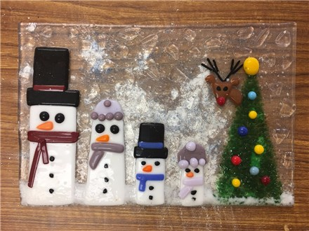 Fused Glass - Snow Family - Evening Session - 12.08.17
