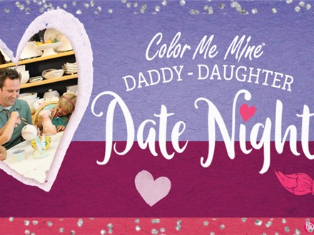 Daddy Daughter Date Night at Color Me Mine