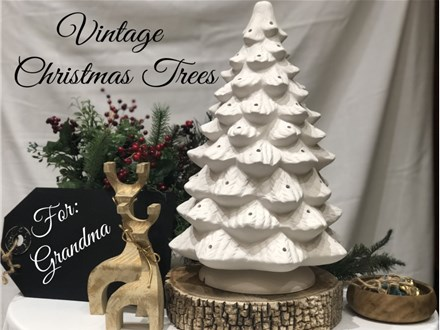 Vintage Christmas Trees at The Painted Pot