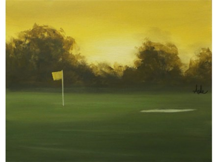 Golf Sunrise - 16x20 canvas