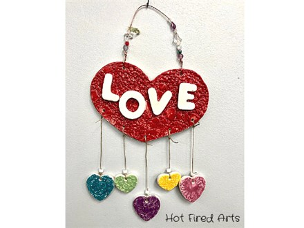 Kids Night Out: Clay Heart Mobile