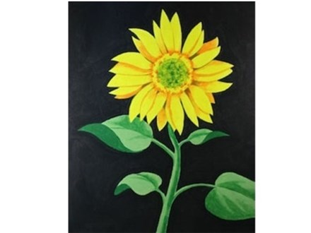 Canvas & Wine Night! Sunflower! 7/24/18