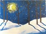 Canvas & Wine Night!  Winter Woods!  1/2/17