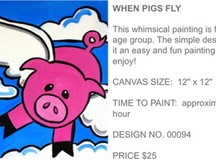 When Pigs Fly Painting Party