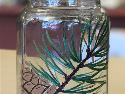 Ladies Night - Essential Oils - Fall Bath Salts and Painted Jar - 11.17.18