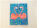 Flirting Flamingos (Couples) Canvas Class