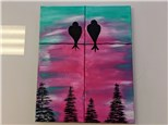 Perfectly Perched Couples Canvas $60 (Adult)