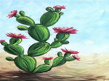Cactus Blossom: Canvas Class