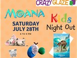 Ticket for Crazy Glaze Studio's Kids Night Out July 28th