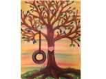 Canvas & Wine Night! Tree w/ Heart! 10/27/17