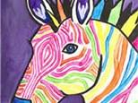 """Paint & Sip """"Electric Zebra"""""""