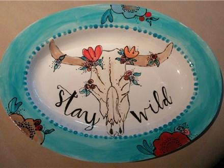 Stay Wild - Ceramic Platter Class