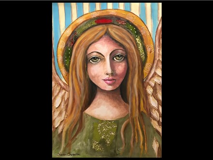 """10/19-10/20 """"I Believe in Angels""""  Mixed Media Workshop10AM ($25) $85 or $100"""