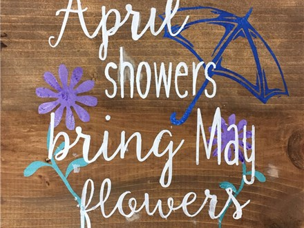 Kid's Board Art - April Showers - 04.19.17 - Afternoon Session