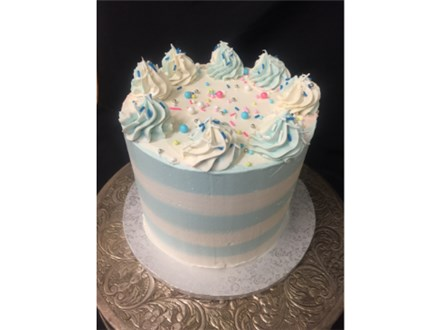 Blue Candy Stripped Cake