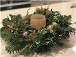 Wreath making with Susan Maki and glassybaby bellevue
