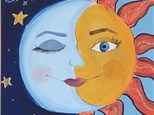 Summer Camp Sun and Moon Canvas Tuesday, June 15th 10AM-12PM