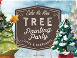Holiday Tree Painting Party at Color Me Mine - Ridgewood