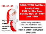 Bowl With Santa (per lane package)
