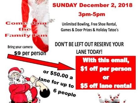 Bowl With Santa (per lane package)