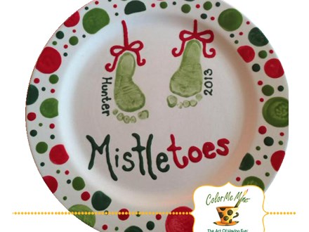 Mistletoes Footprint Plate Workshop - December 8