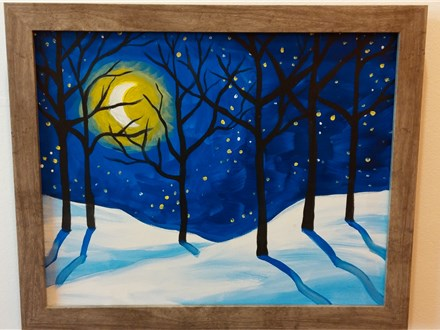 Winter Scene Canvas Class