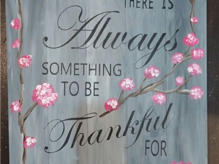 Thankful - Board Painting Class
