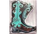 """Cowboy Boots"" Canvas Class, October 1st"
