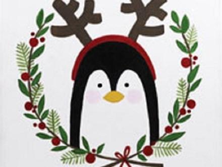 """Canvas & Cones """"Holiday Penguin"""""""