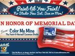 Memorial Day Weekend - Paint Til You Faint