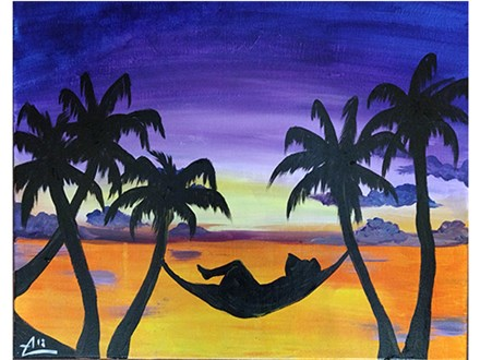 Embrace relaxation with this tropical Hawaiian sunset!