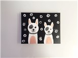 Pair of Puppies (mommy/daddy and me ages 4+) Canvas Class
