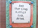 Make this clay plaque like we found on Pinterest