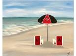 Beach Fans - UGA - Choice Colors for Umbrella/Chairs