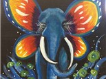 Butterfly Elephant Canvas Painting @ A Pigment of Your Imagination