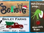 Christmas Wood Sign Art - December 13th