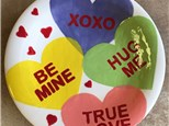 Adult Pottery - Conversation Hearts Coupe Plate - 02.09.17 - Morning Session