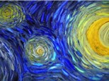 Starry Night Light Up Canvas Party - January 26