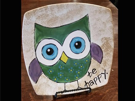 "Kids Night Out Pottery Night! ""Be Happy"" Friday, March 24th 6-8pm"