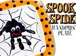 Spooky Spider Handprint Plate Workshop: October 6
