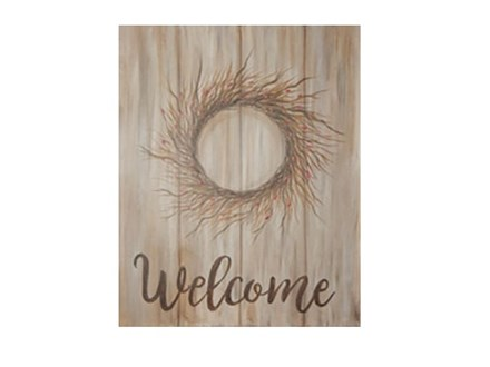 Welcome Berry Wreath - Canvas - Paint and Sip
