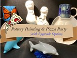 Pottery Painting & Pizza Party - 2-1/2 hours Ages 8 to Adult