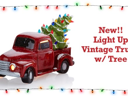 Vintage Light Up Truck with Tree - Nov. 2nd